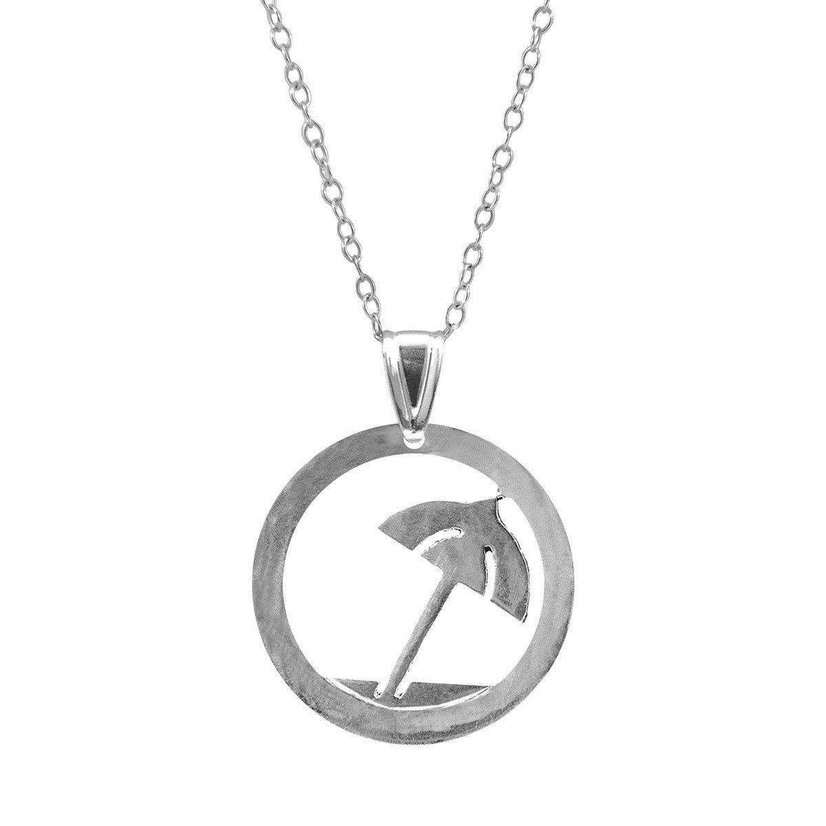 Silver Necklace Beach Parasol Disc Paradise Jewelry