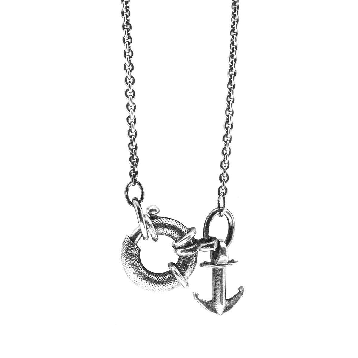 Jewelry-Clyde Anchor Signature Silver Necklace Pendant