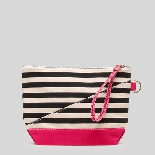 Tote Bag- Black and White striped Fashionable