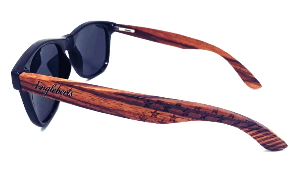 Sunglasses Zebrawood , Stars and Bars With Wooden