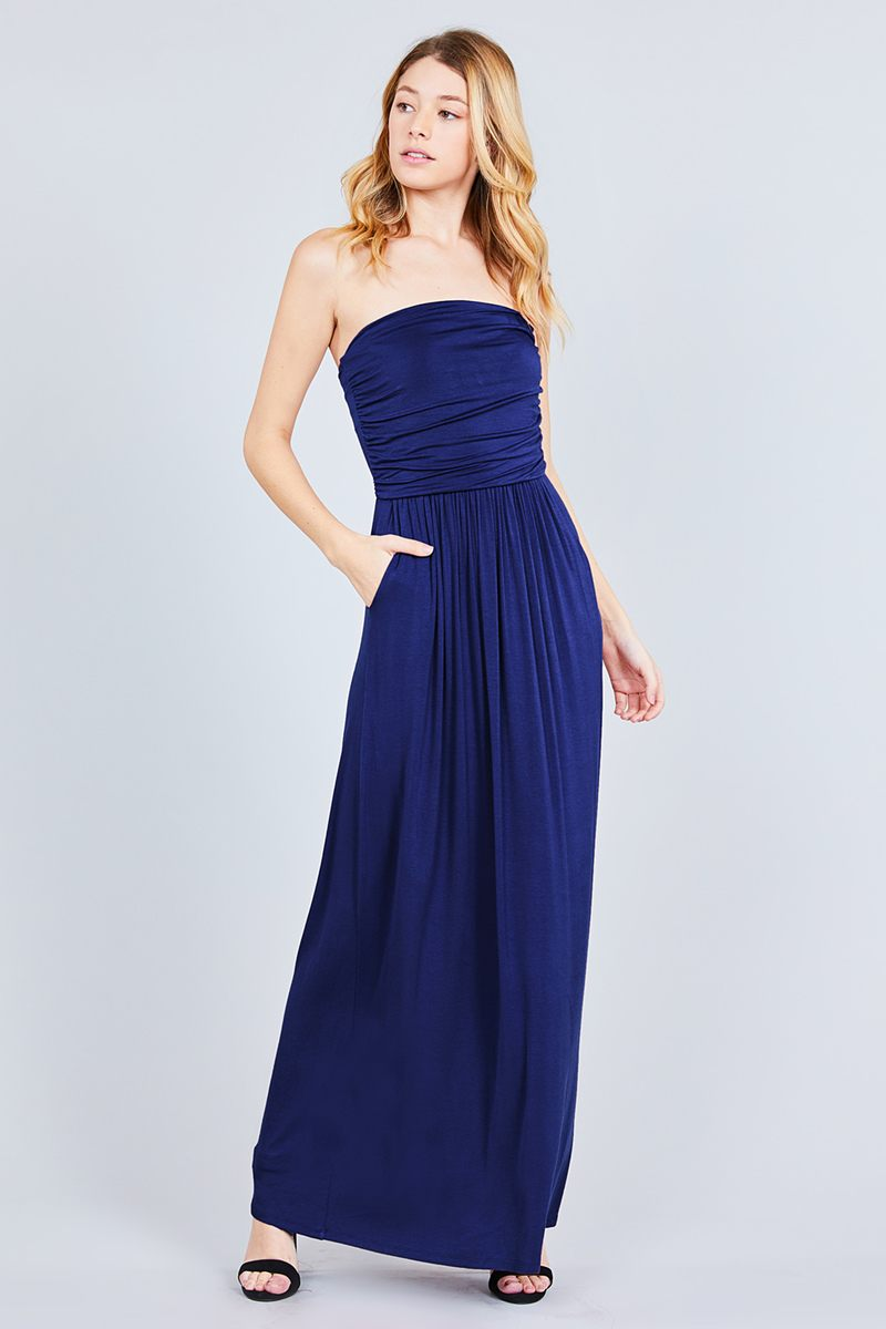 Maxi Dress Rayon Modal Spandex Tube Top