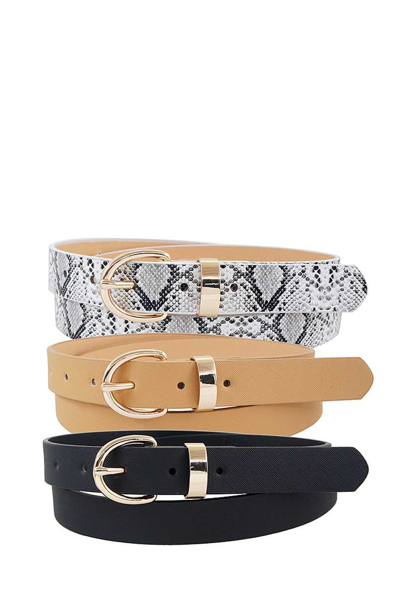 Trio Metal Loop Ring Belt Set