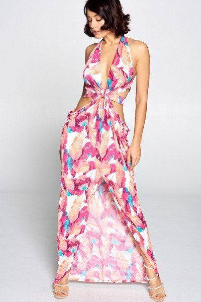 Maxi Dress Cut Out Long