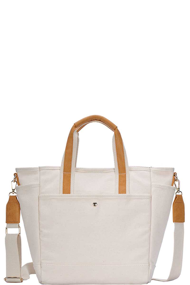 Handbag Canvas Designer With Long Strap