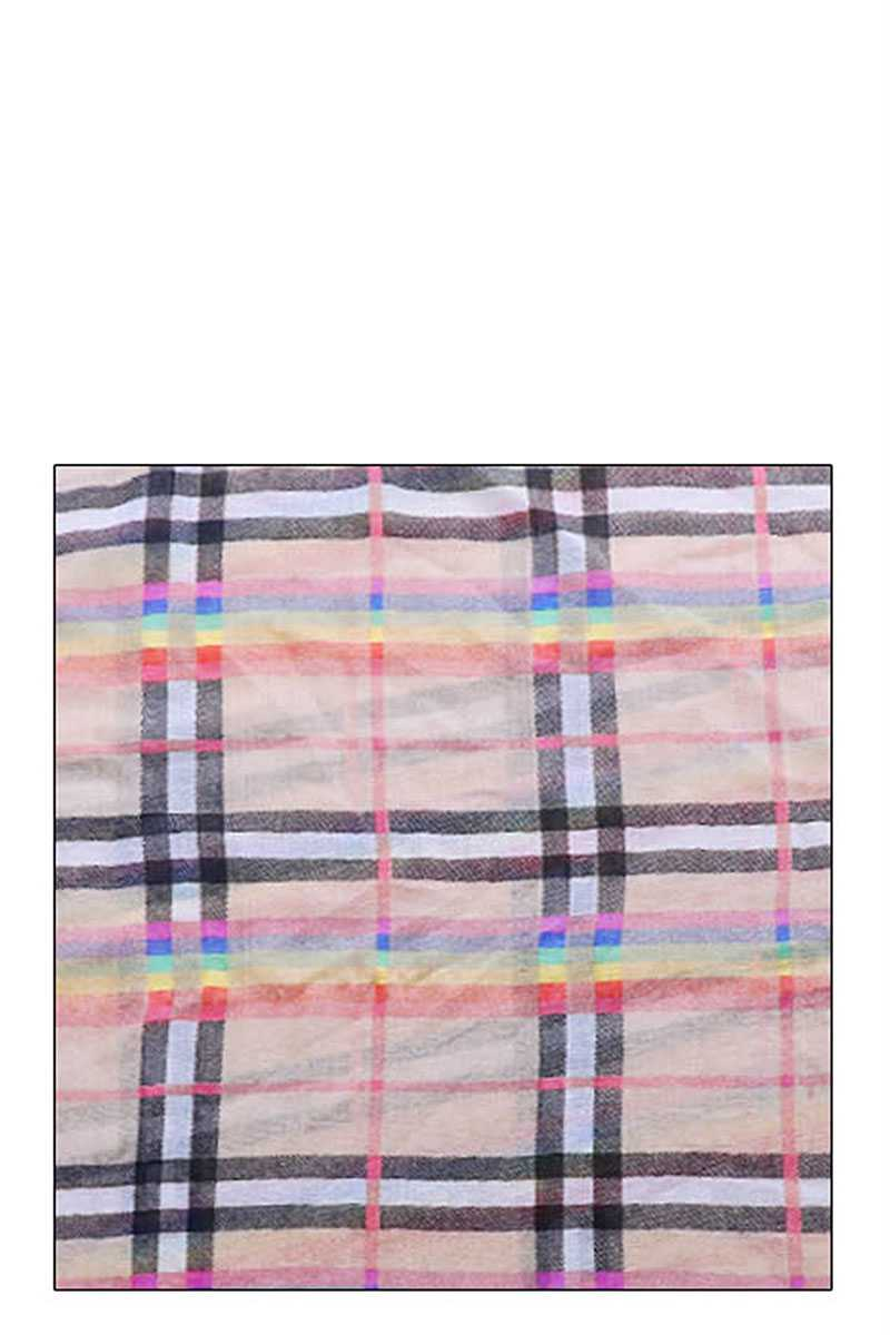 Fashion Rainbow Modern Check Infinity Scarf