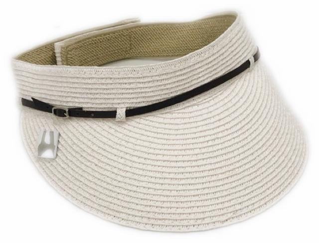 Hat-White Belt Visor