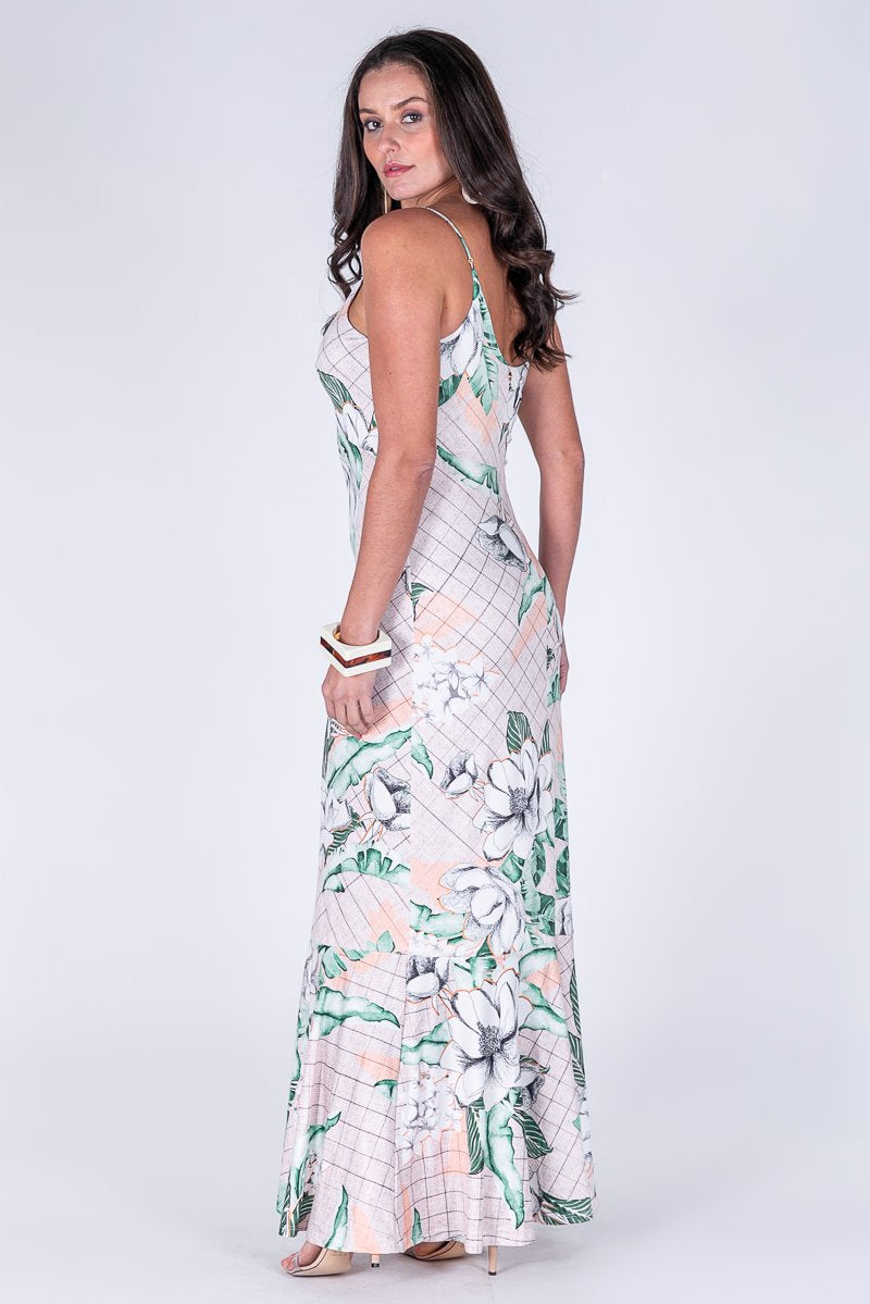 DRESS-LONG PRINTED BEAUTIFUL
