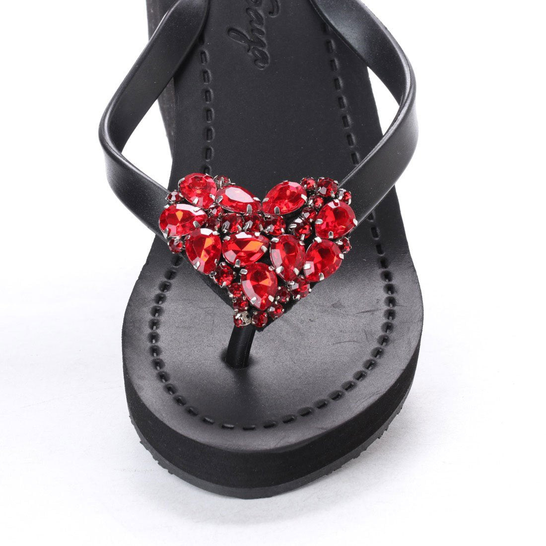 Sandal- Black Chelsea Heart in Colors
