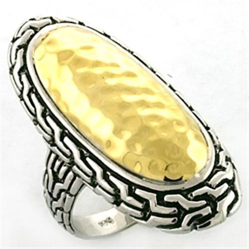 Ring 925 Sterling Silver with Gold+Rhodium
