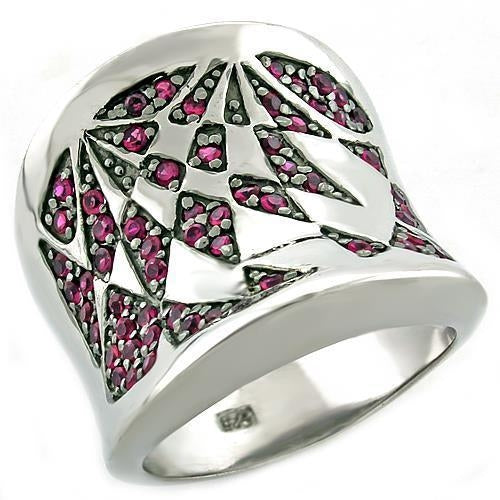 Ring Ruby  925 Sterling Silver in Rhodium AAA Grade