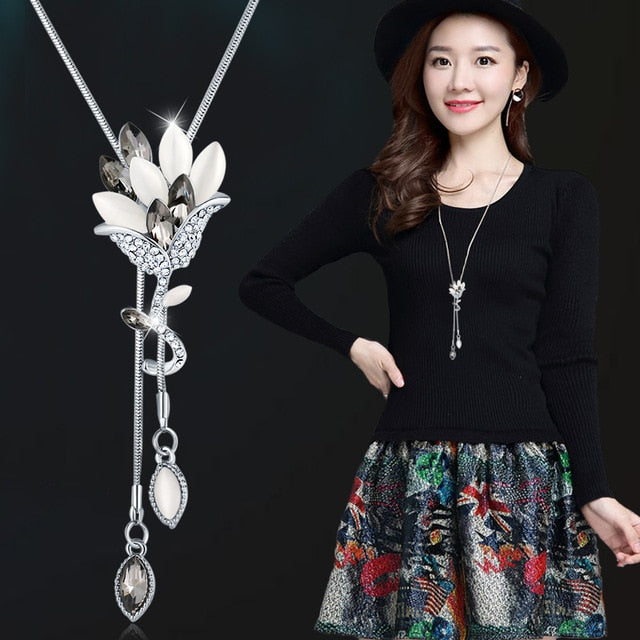 Chain Flower Necklaces