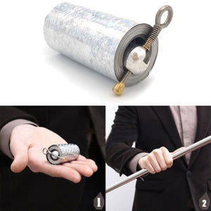 Portable magic telescopic props portable martial arts metal magic pocket staff - new high quality pocket 30N20