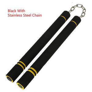 for Beginners Black yellow Durable nunchakus Martial Arts Nunchakus Weapon Foam Metal Chain Safe Sponge Nunchucks