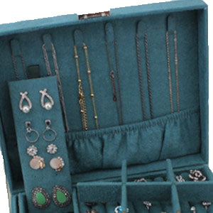 Luxurious Jewelry Box With Necklace Hook Plengood