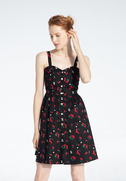 Maya's Sweet Cherry Kisses Dress - Plengood