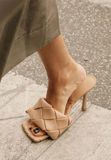 Stunning Beige Push Heels - Plengood