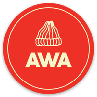 "Sticker - ""AWA Hat"" - Red (2"")"
