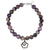 Black Diamond Lucky Cloud Bracelet with Charoite Beads