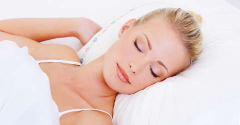 Woman Sleeping on Hypoallergenic Pillow