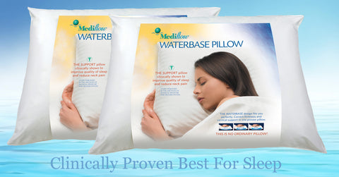 Chiropractic Waterbase Pillows, Twin Pack | Mediflow