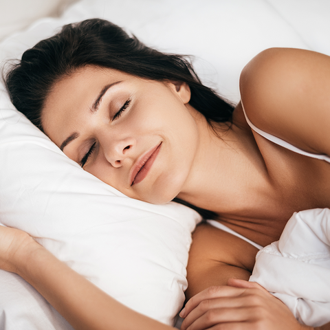 Woman Sleeping Peacefully in Ideal Sleep Environment | Mediflow