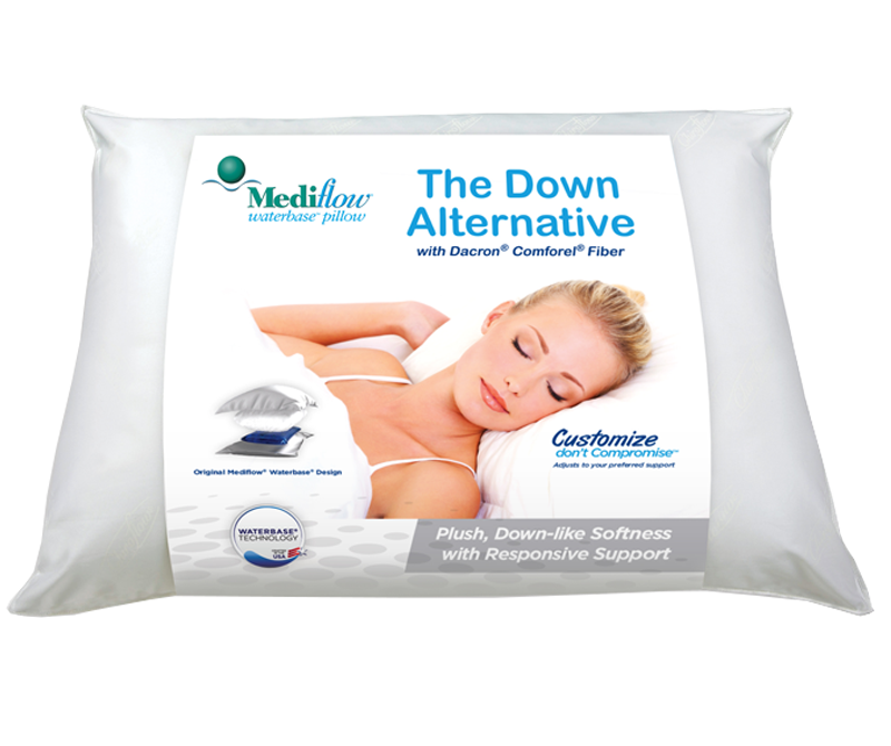The Water Pillow's down alternative pillows feature our exclusive Responsive Support