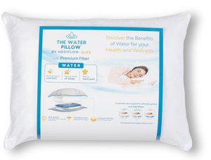 The Water Pillow by Mediflow - Elite Premium Fiber (Single Pillow)