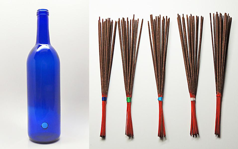 "11"" Natural Stick Incense and Bottle Combo Special - Paradise Station"
