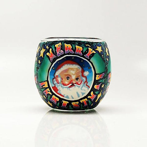 Santa Claus Votive Candle Holder
