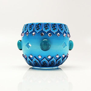 Blue Bejeweled Votive Candle Holder - Paradise Station