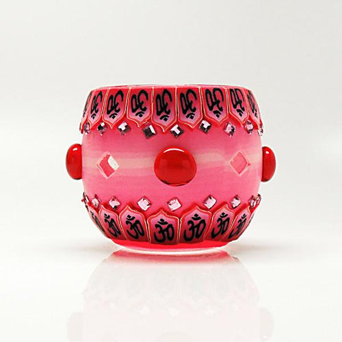 Pink Bejeweled Votive Candle Holder - Paradise Station