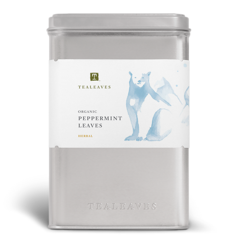 Organic Peppermint Leaves Wholesale Tin