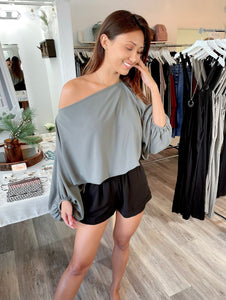 Striped Knit Knotted Front Top