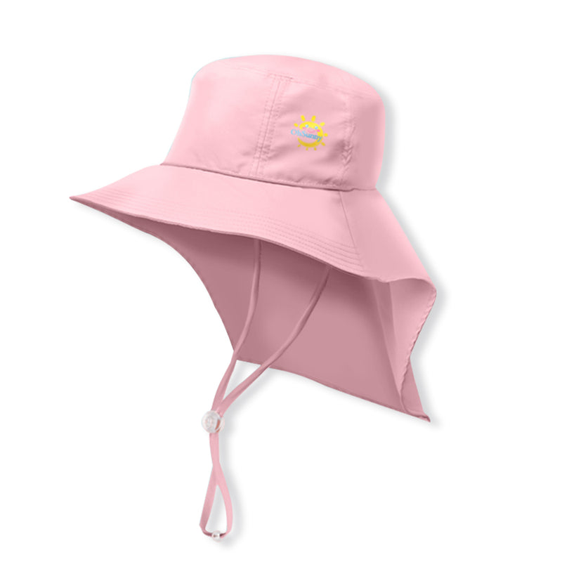 Light-pink Kid's Boating Bucket Hat UPF 50+