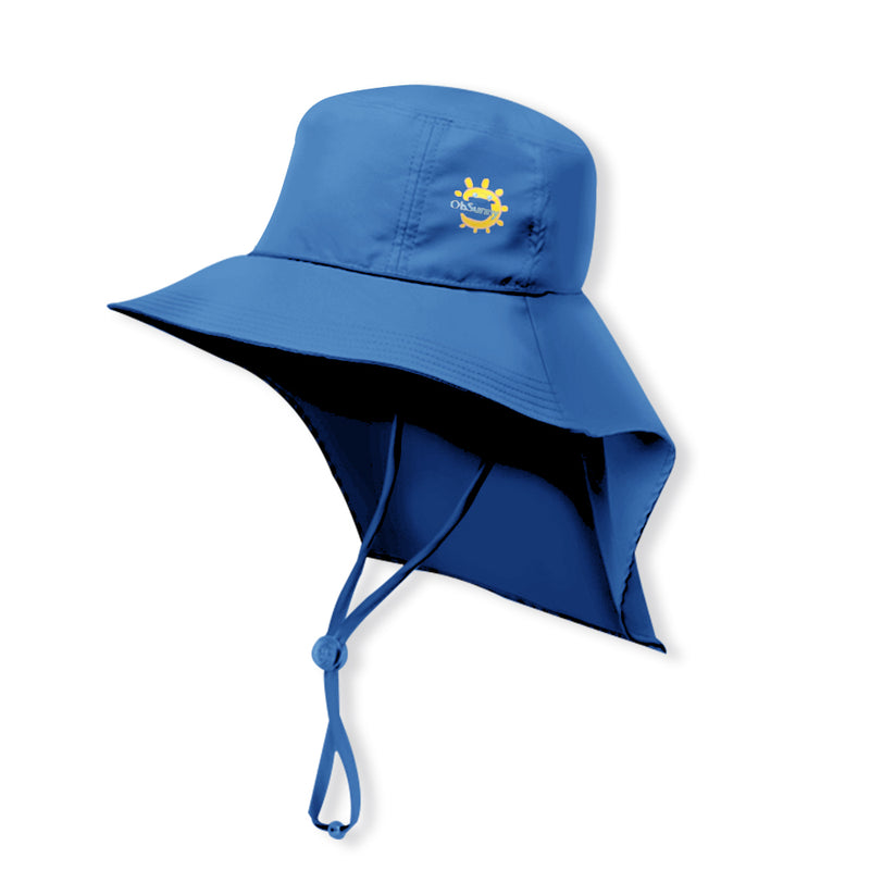 Dark-blue Kid's Boating Bucket Hat UPF 50+