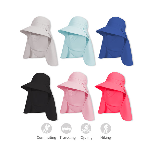 Large Brim  Breathable Face Protection Fishing Sun Hat UPF50+