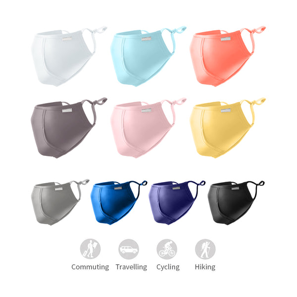 Breathable Biking Sunscreen Face Mask With Mouth Hole UPF50+
