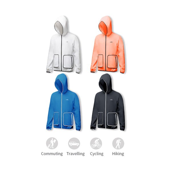 Men's Lightweight Big Pocket Long Sleeve Biking Zip Hoodie UPF50+