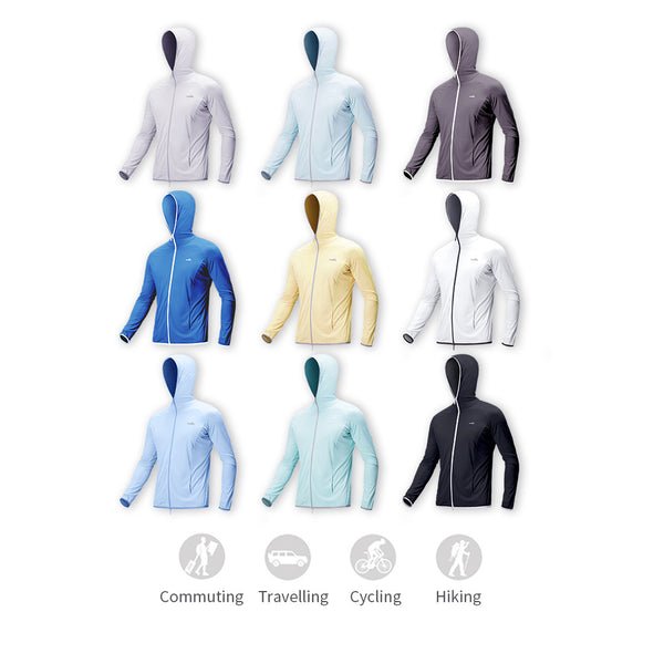 Men's Lightweight Long Sleeves Full Zip Hoodie UPF50+