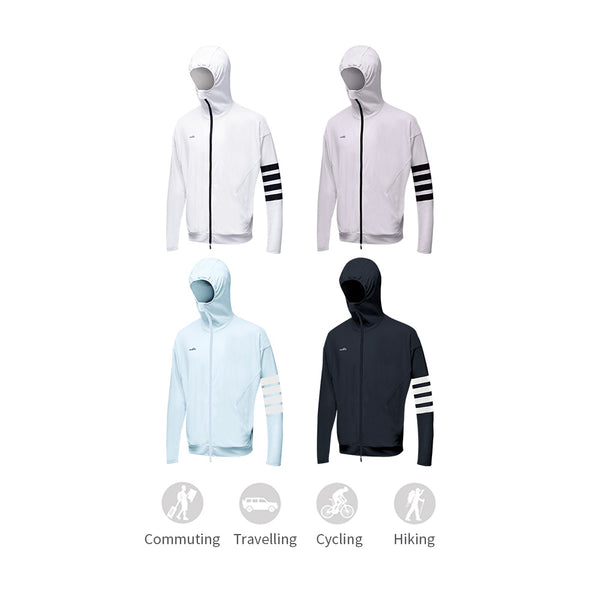 Men's Lightweight Leisure Zip Biking Hoodie UPF50+