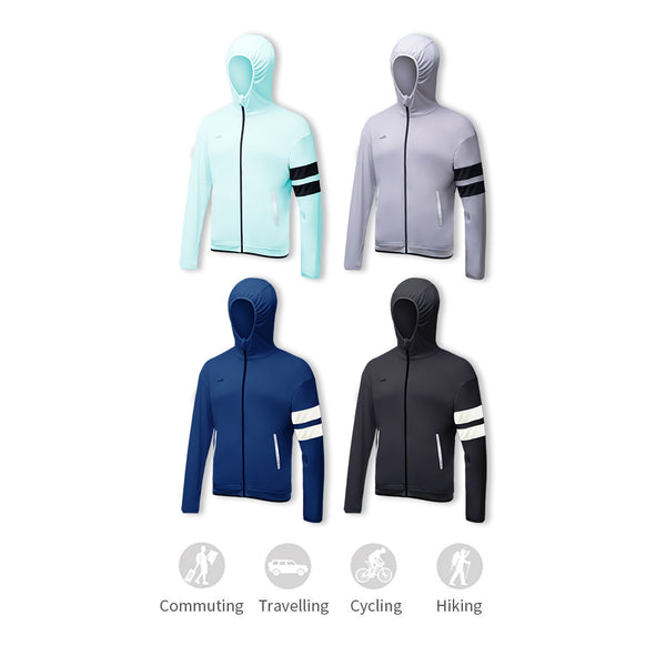 Men's Lightweight Stand Collar Zip Hoodie UPF50+