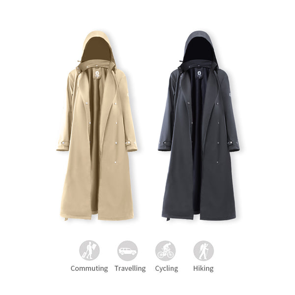 Women's  Breathable Sunscreen & Weatherproof  Trench Coat UPF50+