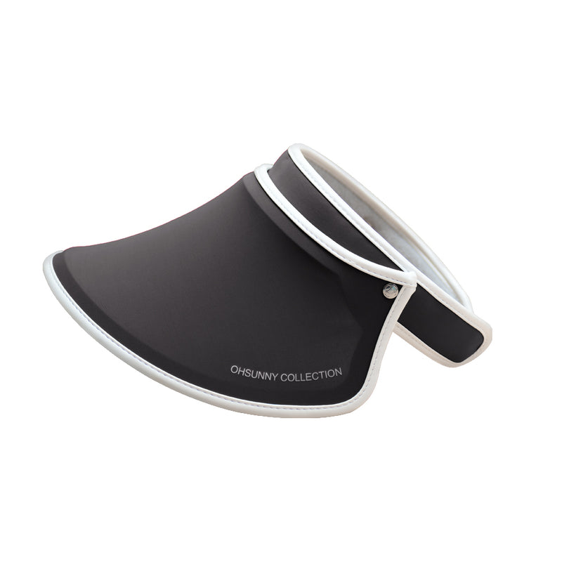 Black Kid's Sun Visor UPF 50+