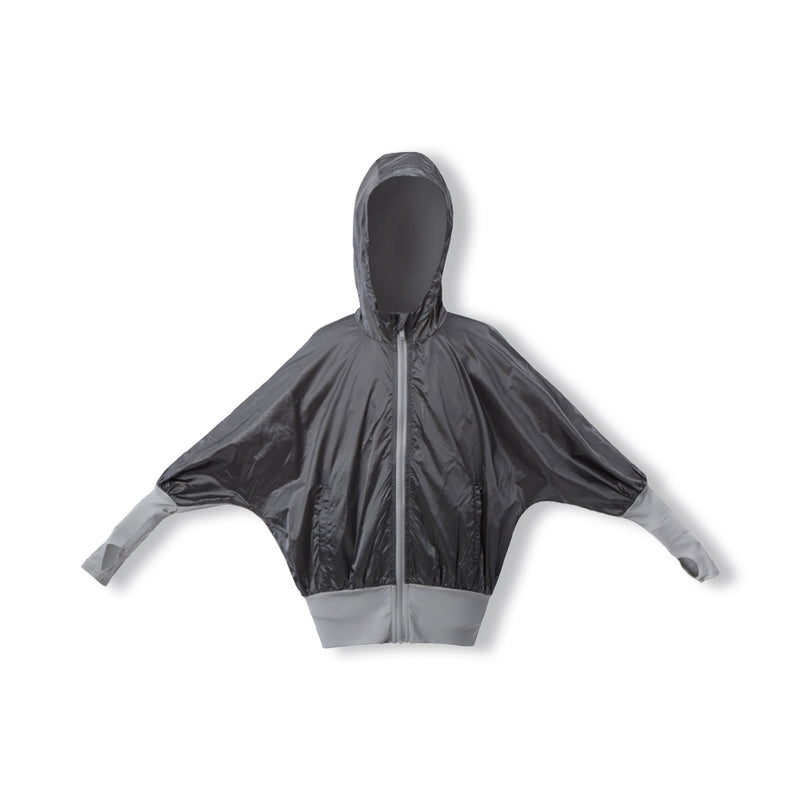 Grey Kid's Thin outdoor Hoodie UPF 50+