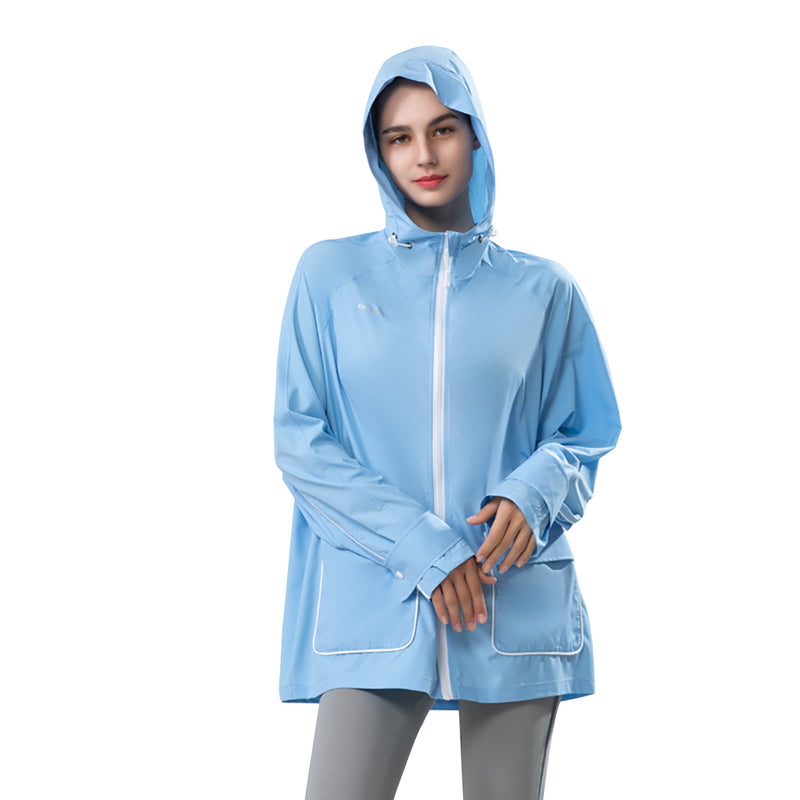 Blue Women's Outdoor Thin Sunprotection Hoodie UPF 50+