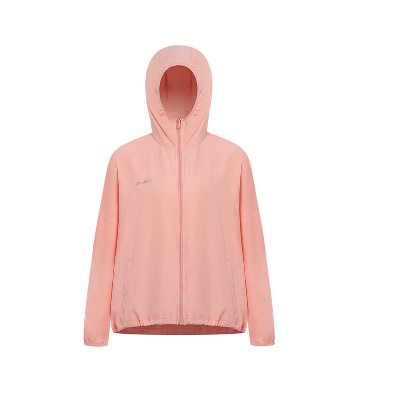 Coral Women's Standard Stand Collar Sun-protective Hoodie UPF50+