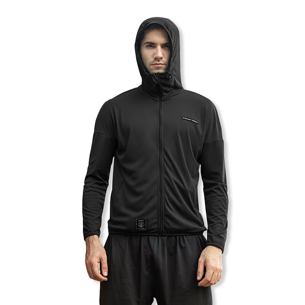 Men's Lighweight High Collar Sun-Protective Hoodie UPF50+