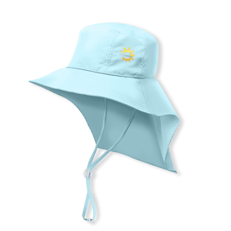 Light-blue Kid's Boating Bucket Hat UPF 50+