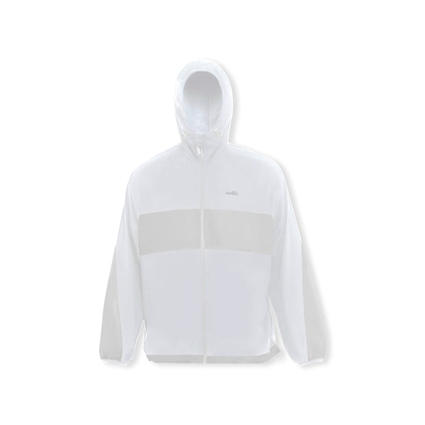 White Men's Contrast Color Sunscreen Hoodie UPF50+