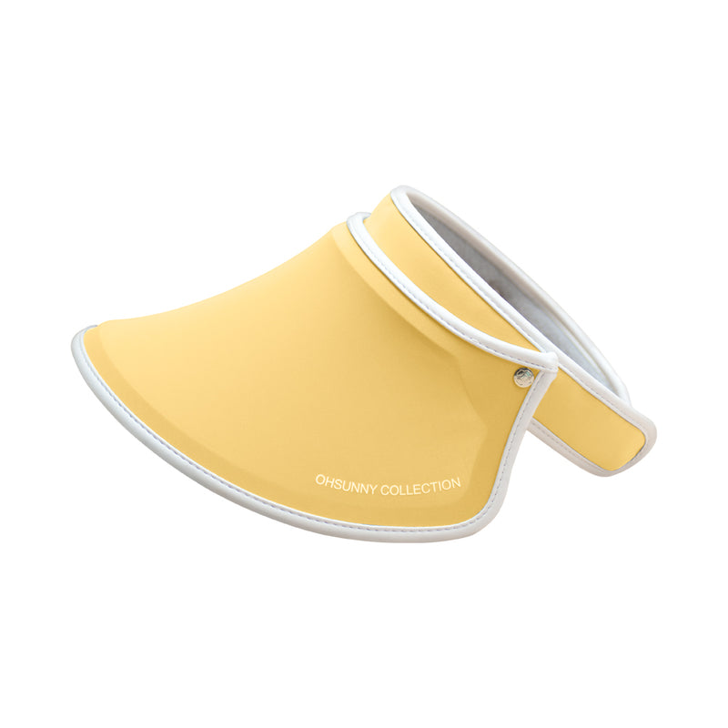 Yellow Kid's Sun Visor UPF 50+